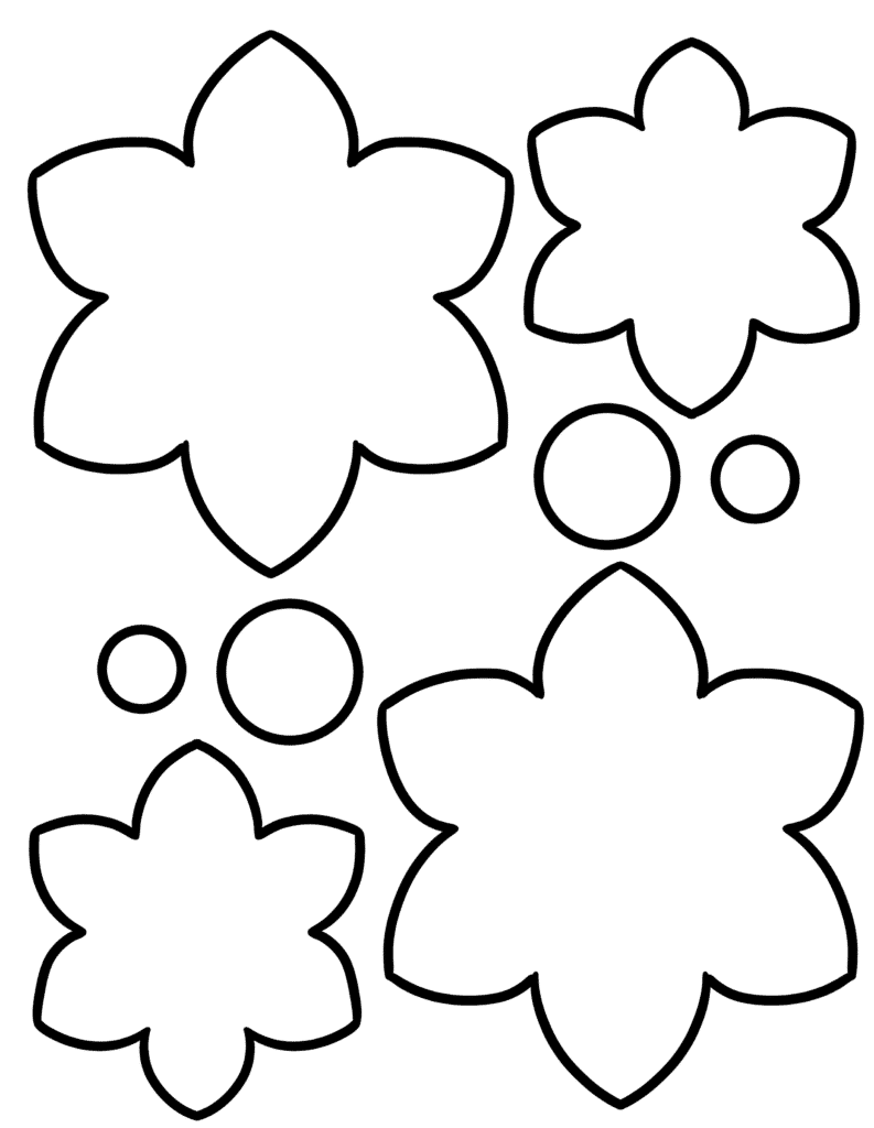 free printable flower cut out template