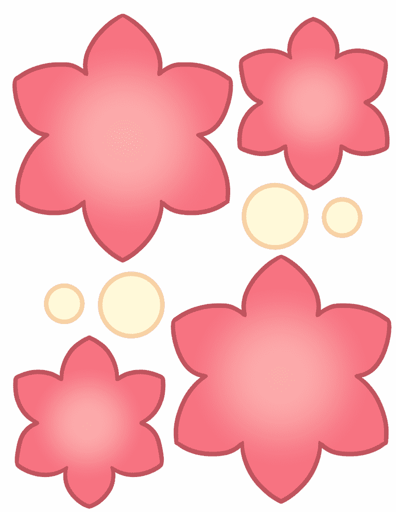 free printable flower cut out template color