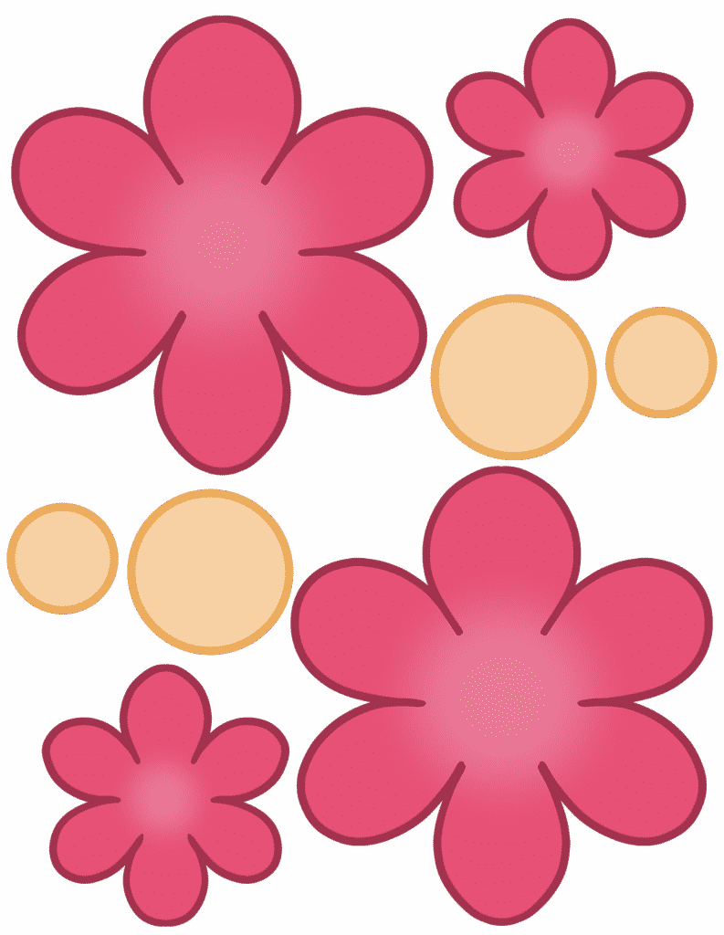 free printable flower template color