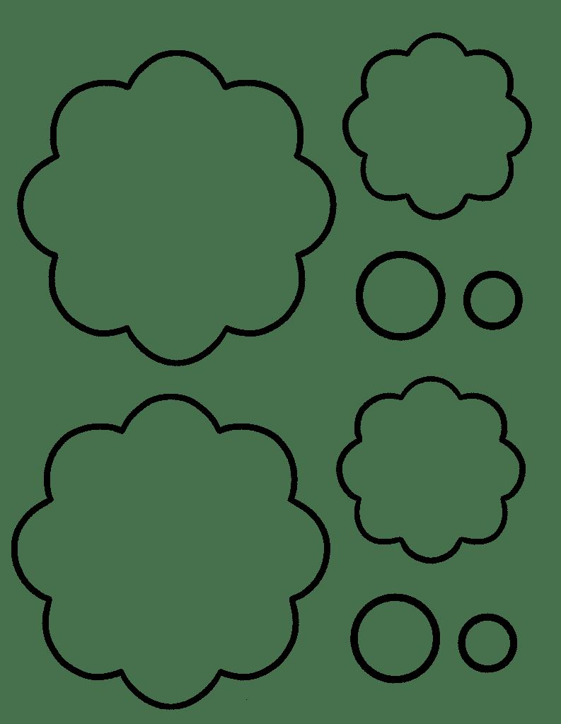 free printable flower template pdf