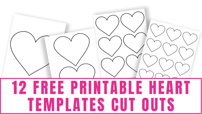 There are countless uses for these free printable heart templates cut outs. Use them in crafts, for Valentine's Day cards or decorations, to write sweet notes on and much more!