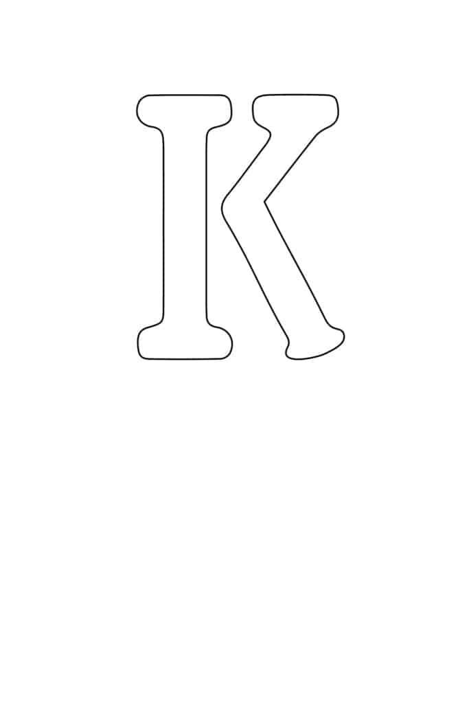 free printable letter stencils letter K stencil
