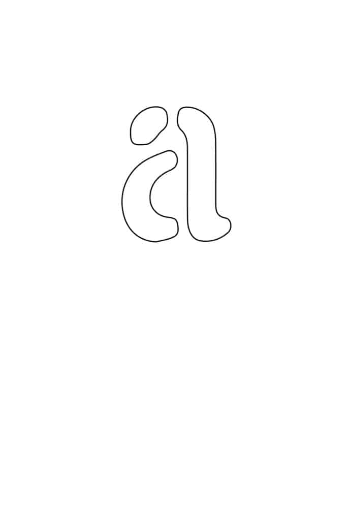 free printable letter stencils lowercase A stencil