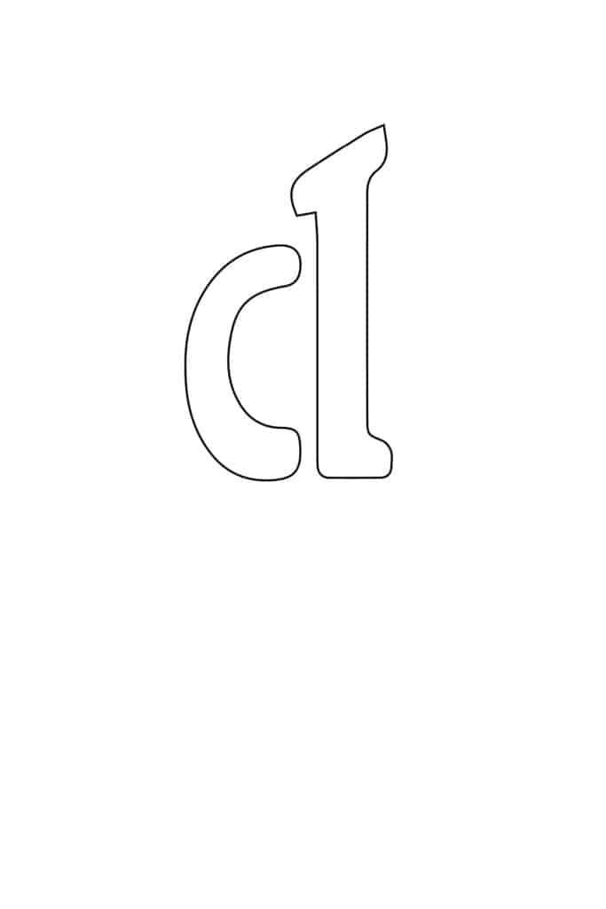 free printable letter stencils lowercase D stencil