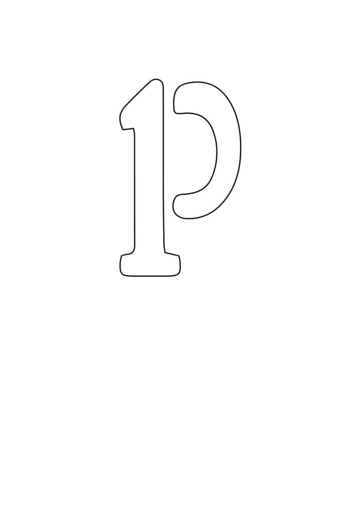 free printable letter stencils lowercase P stencil