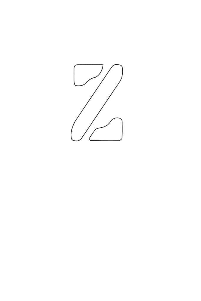 free printable letter stencils lowercase Z stencil