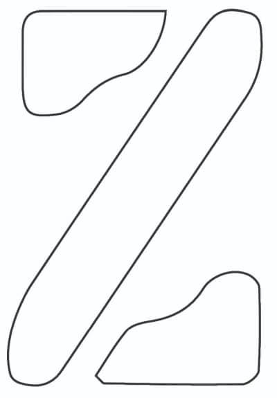 free printable letter stencils lowercase Z stencil