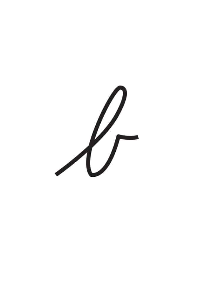 free printable lowercase cursive letters lowercase cursive B