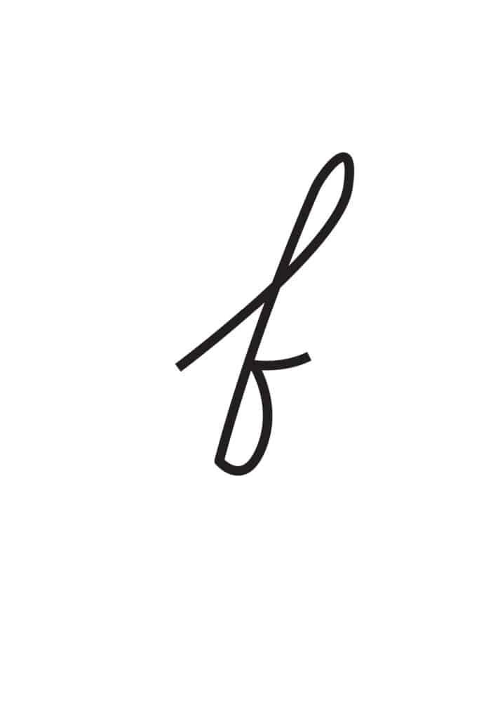 free printable lowercase cursive letters lowercase cursive F