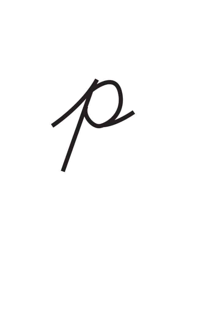 free printable lowercase cursive letters lowercase cursive P