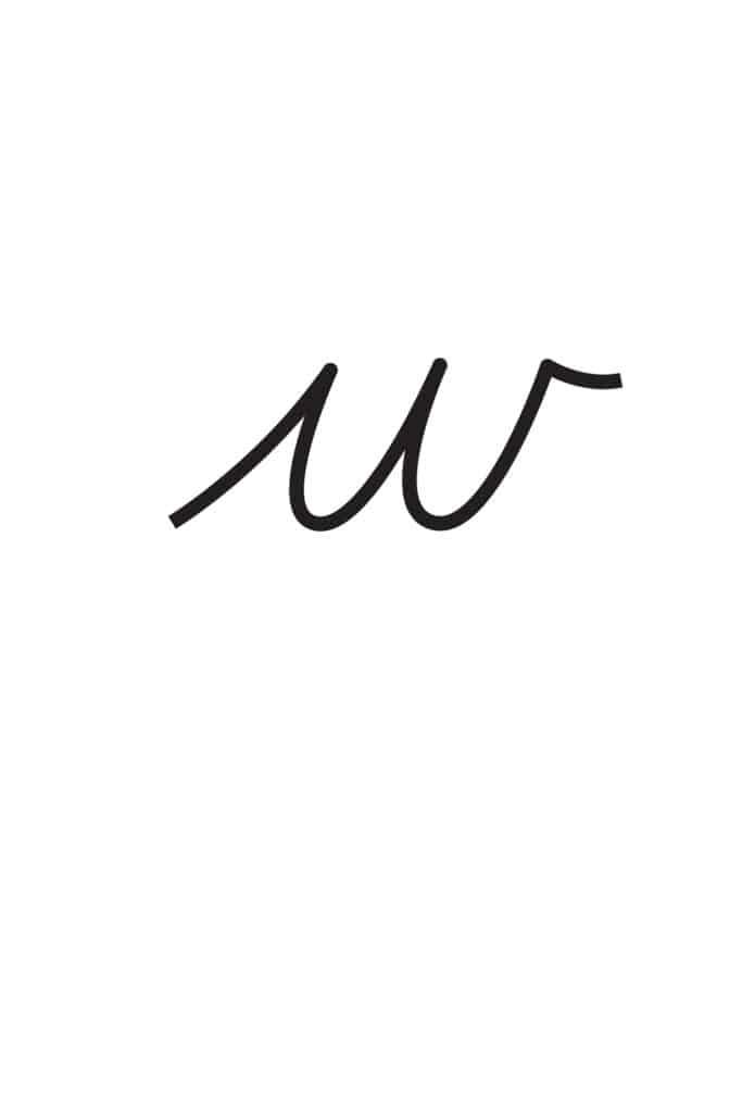 free printable lowercase cursive letters lowercase cursive W