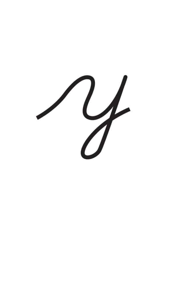 free printable lowercase cursive letters lowercase cursive Y