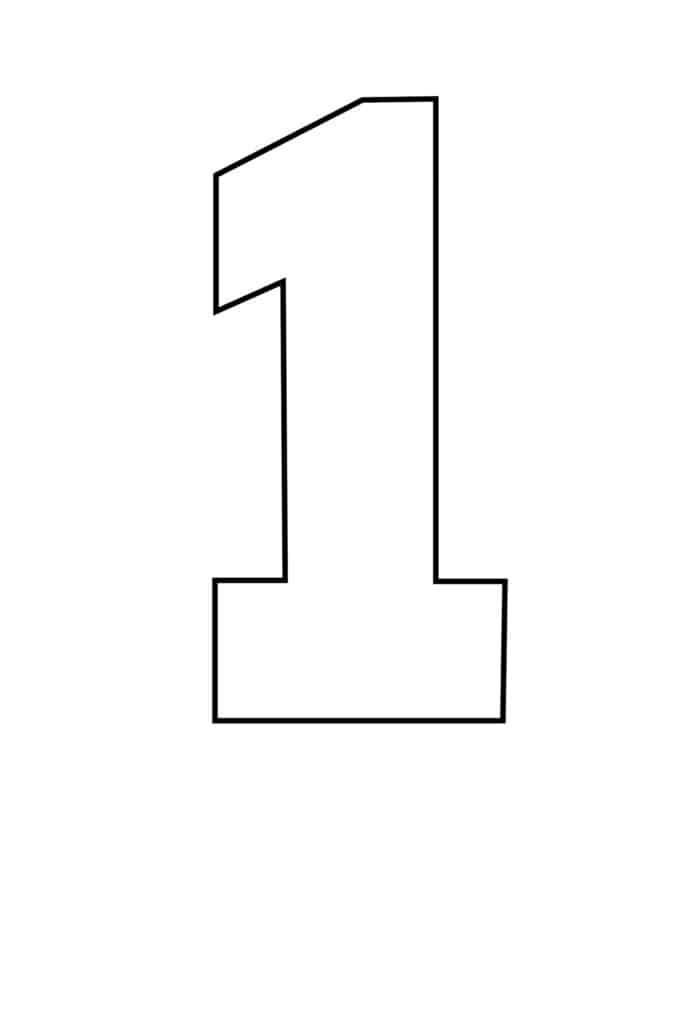 free printable number stencils number 1 stencil large