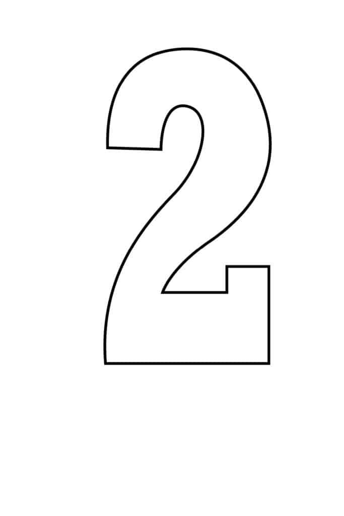 free printable number stencils number 2 stencil large