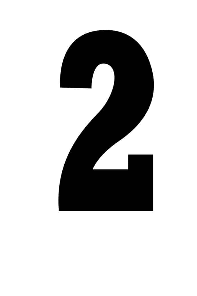 free printable number stencils number 2 stencil large black
