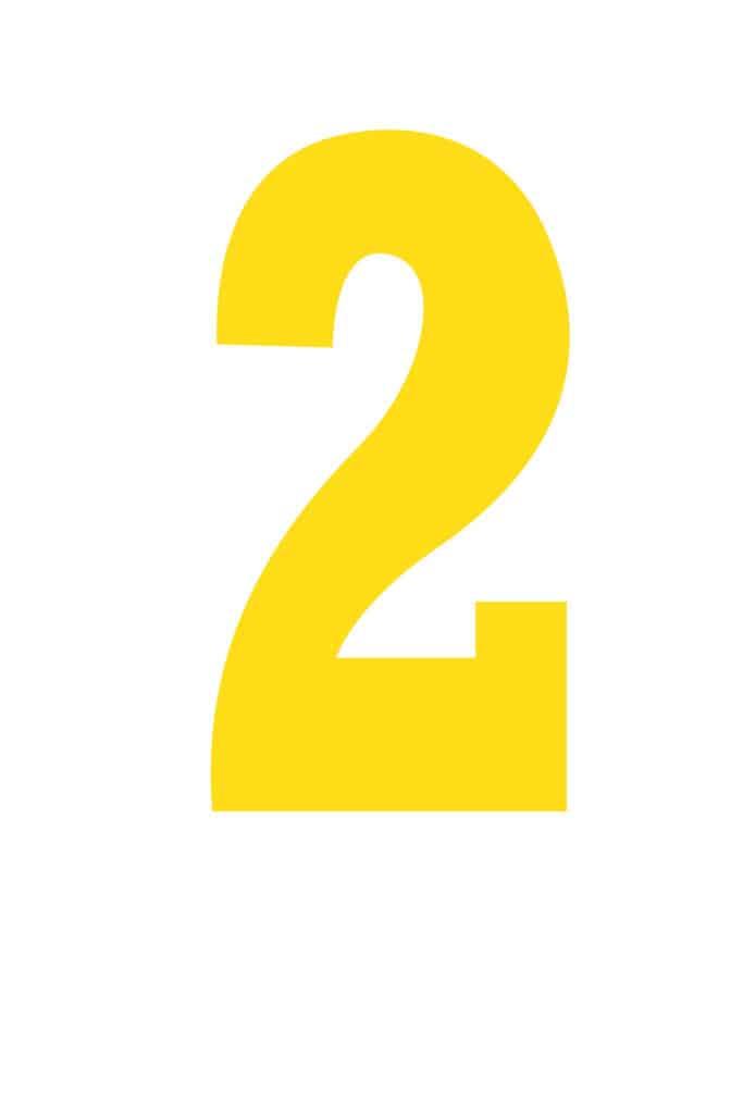 free printable number stencils number 2 stencil large color