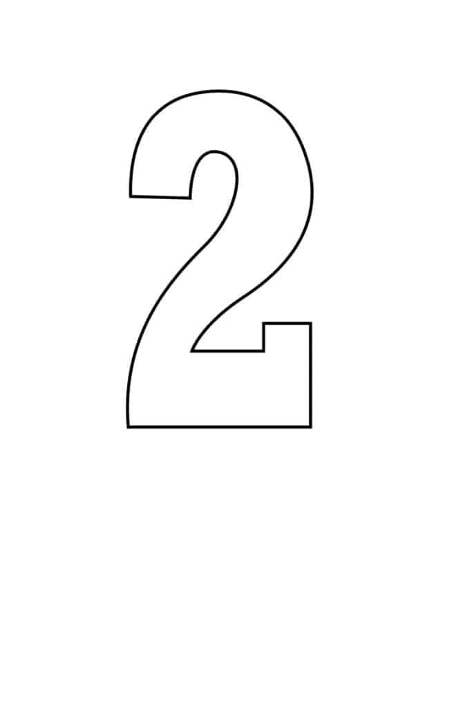 free printable number stencils number 2 stencil medium