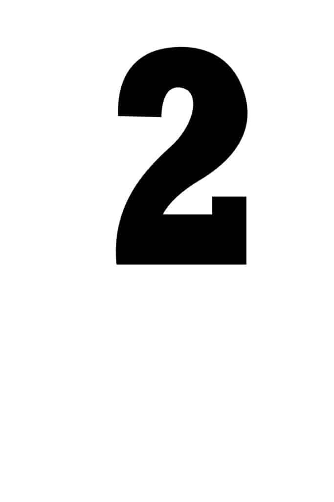 free printable number stencils number 2 stencil medium black