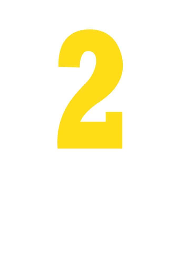 free printable number stencils number 2 stencil medium color