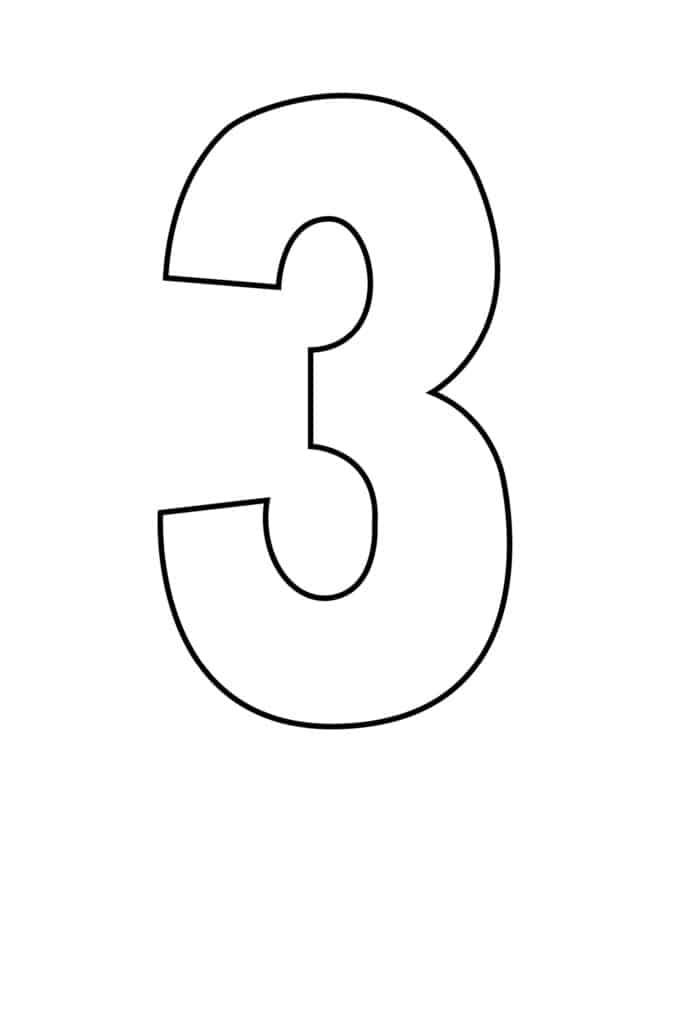 free printable number stencils number 3 stencil large