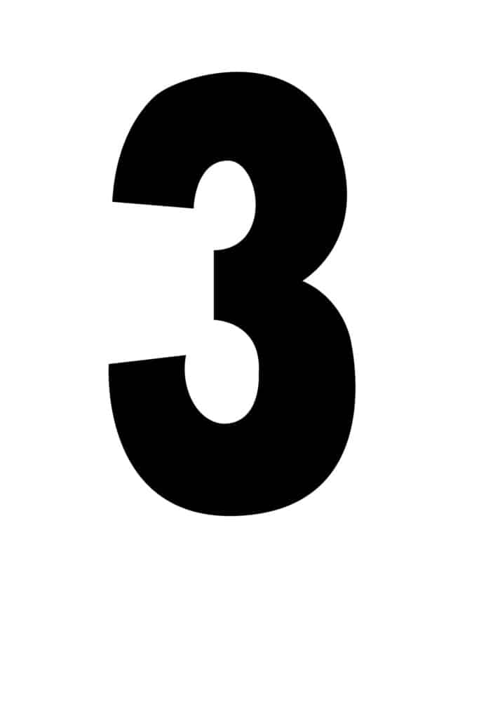 free printable number stencils number 3 stencil large black