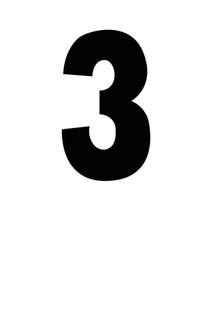 free printable number stencils number 3 stencil medium black