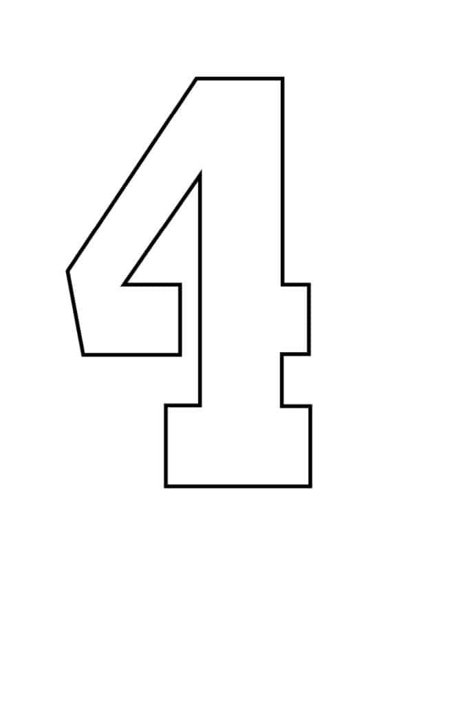 free printable number stencils number 4 stencil large