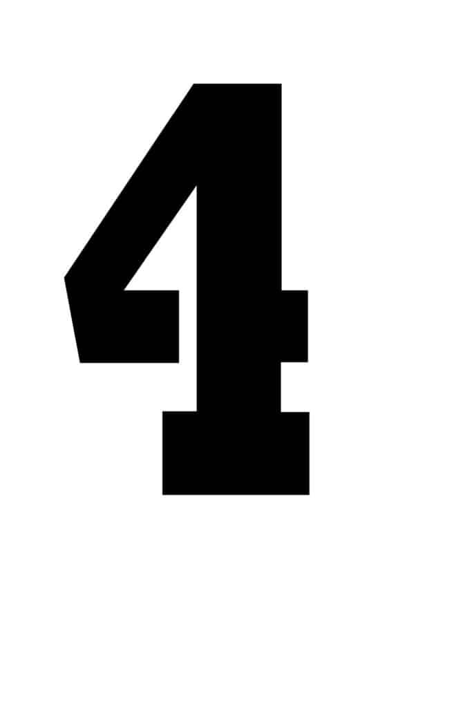 free printable number stencils number 4 stencil large black