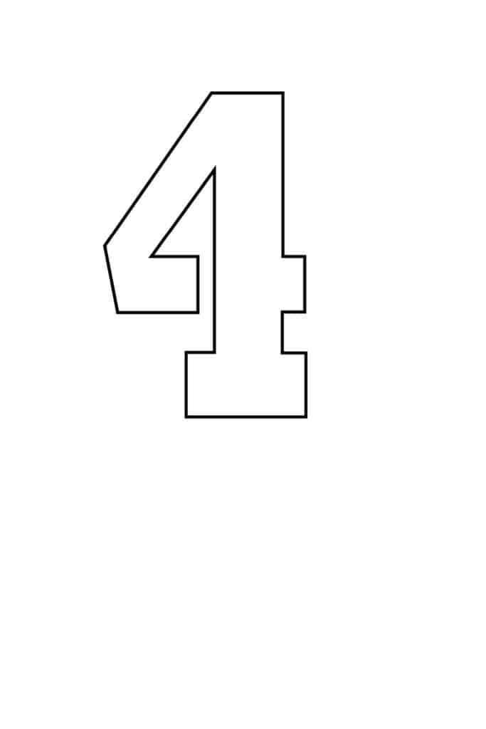free printable number stencils number 4 stencil medium