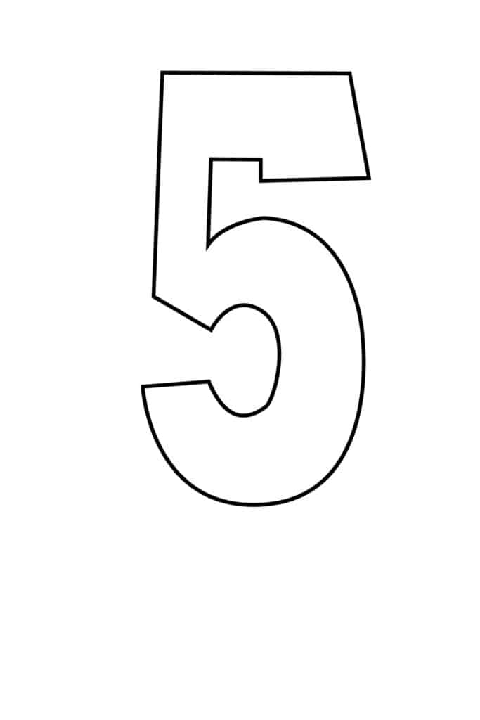 free printable number stencils number 5 stencil large