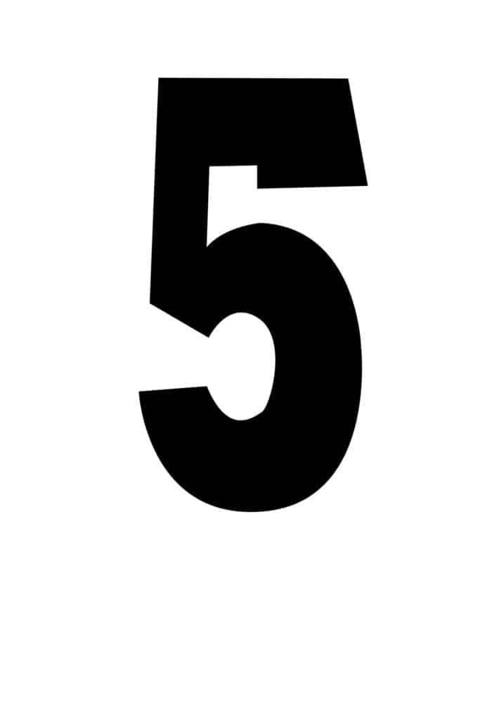 free printable number stencils number 5 stencil large black