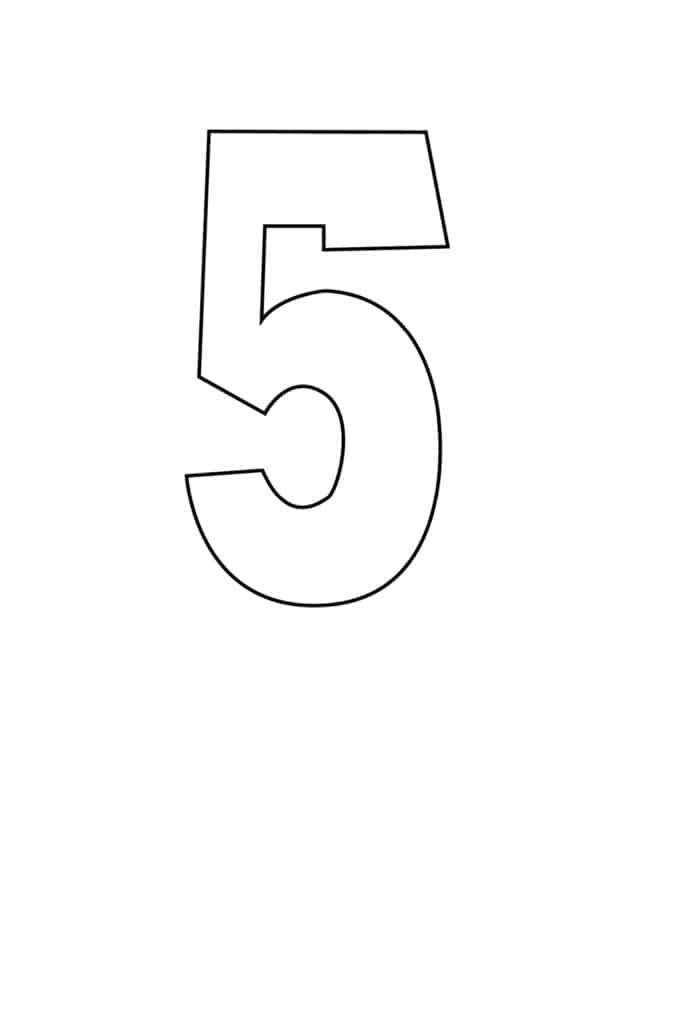 free printable number stencils number 5 stencil medium