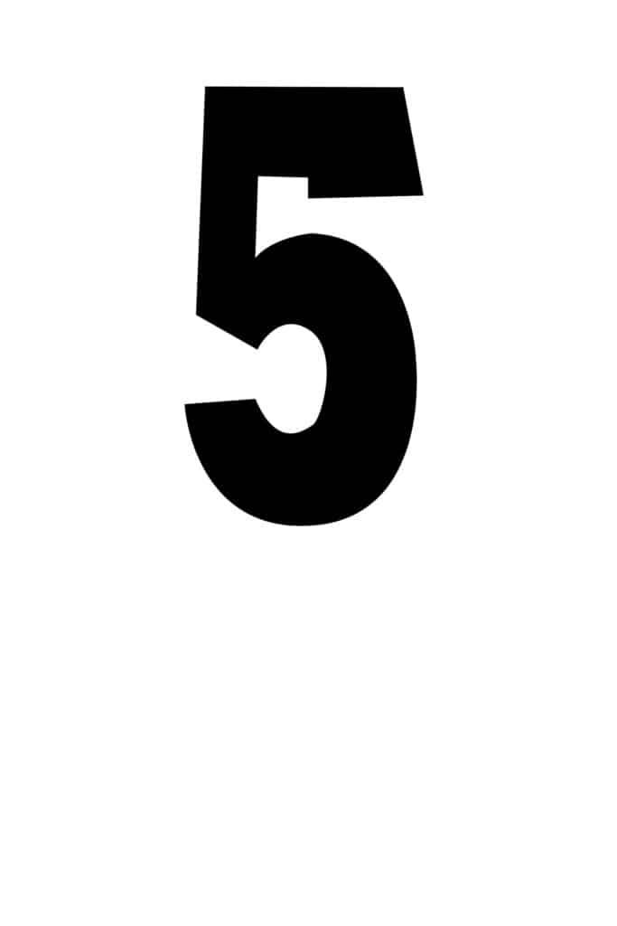 free printable number stencils number 5 stencil medium black
