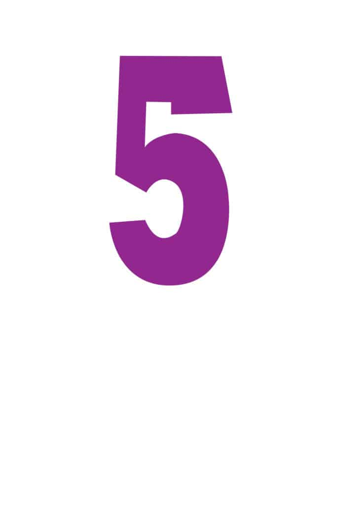 free printable number stencils number 5 stencil medium color
