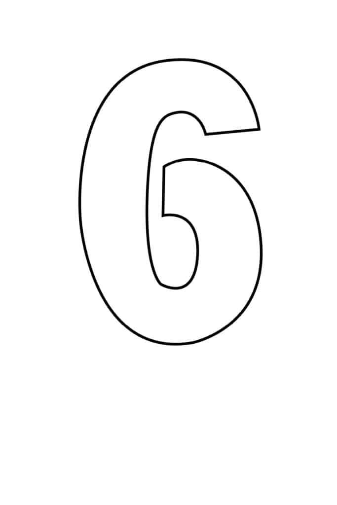 free printable number stencils number 6 stencil large