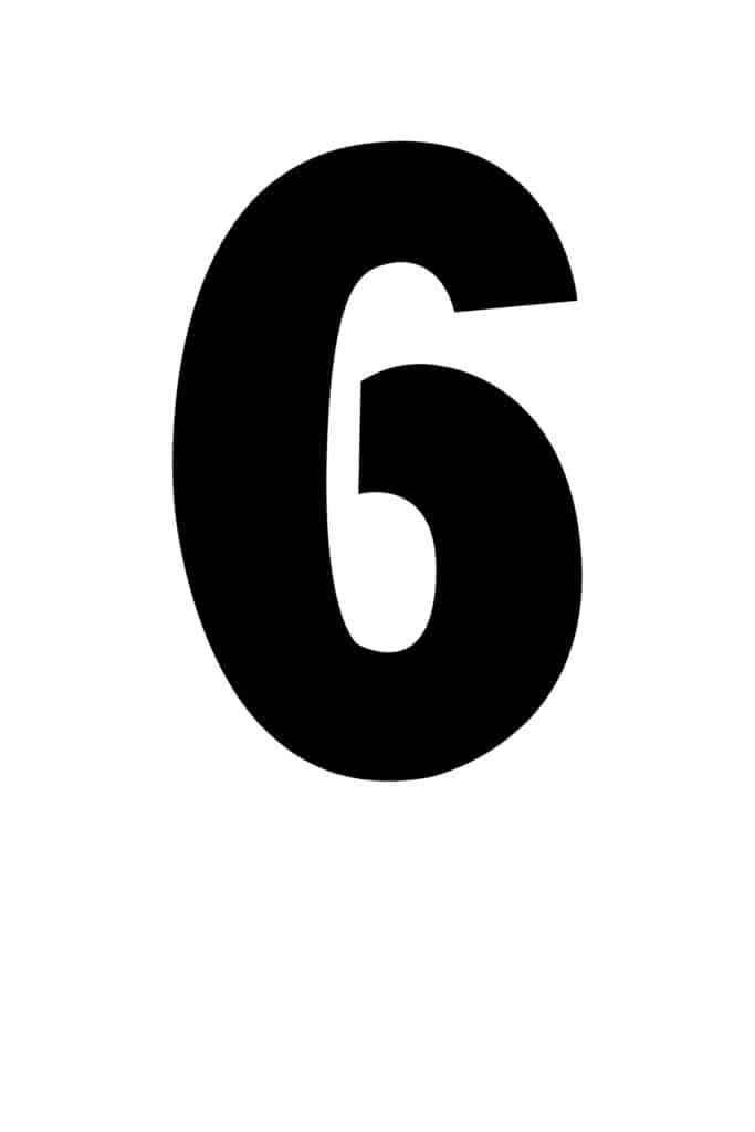 free printable number stencils number 6 stencil large black