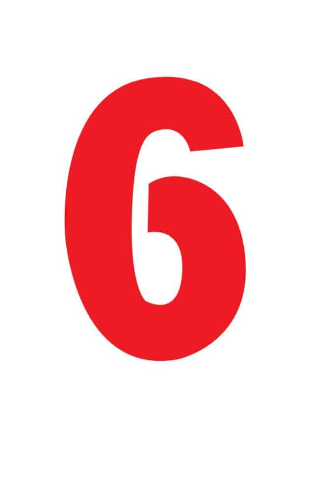 free printable number stencils number 6 stencil large color
