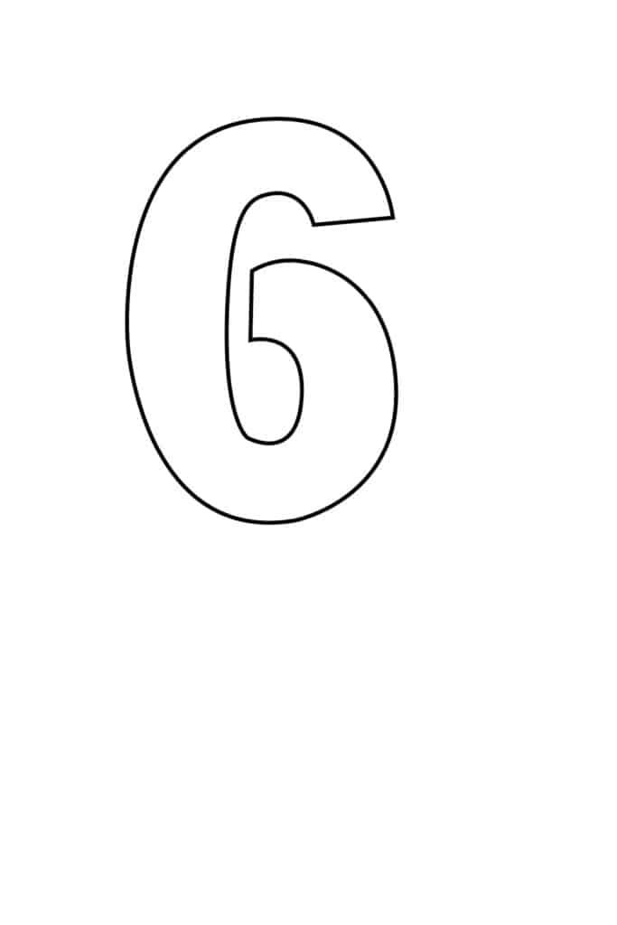 free printable number stencils number 6 stencil medium