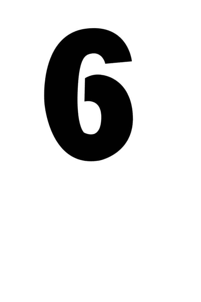 free printable number stencils number 6 stencil medium black
