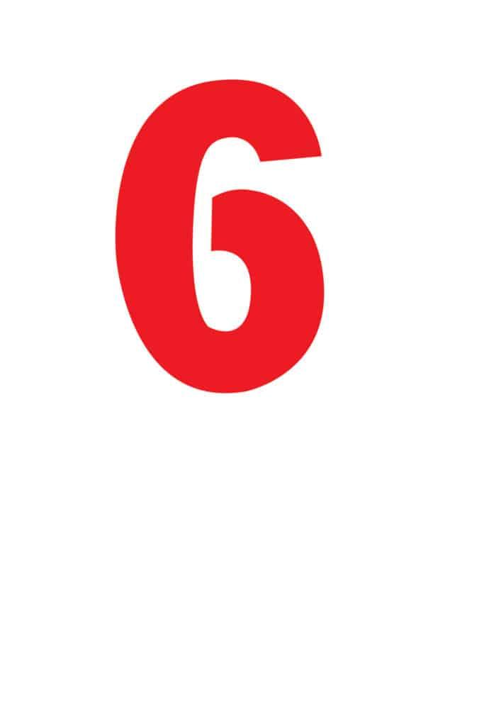 free printable number stencils number 6 stencil medium color