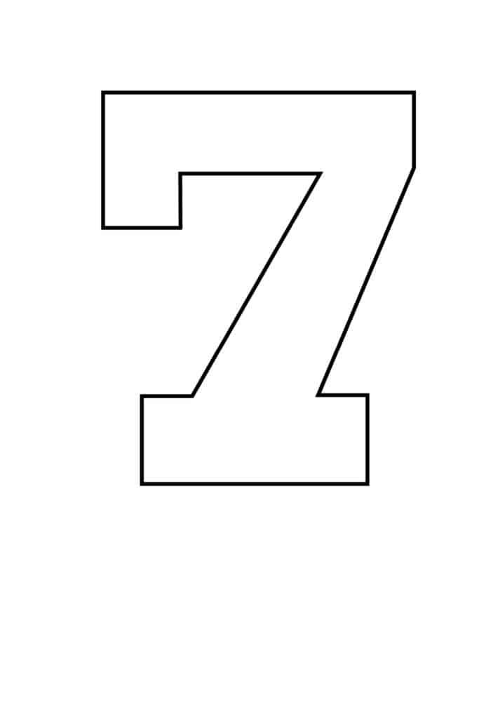 free printable number stencils number 7 stencil large