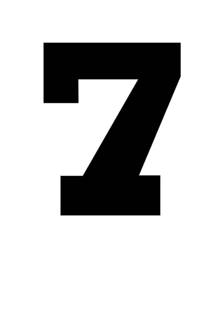 free printable number stencils number 7 stencil large black