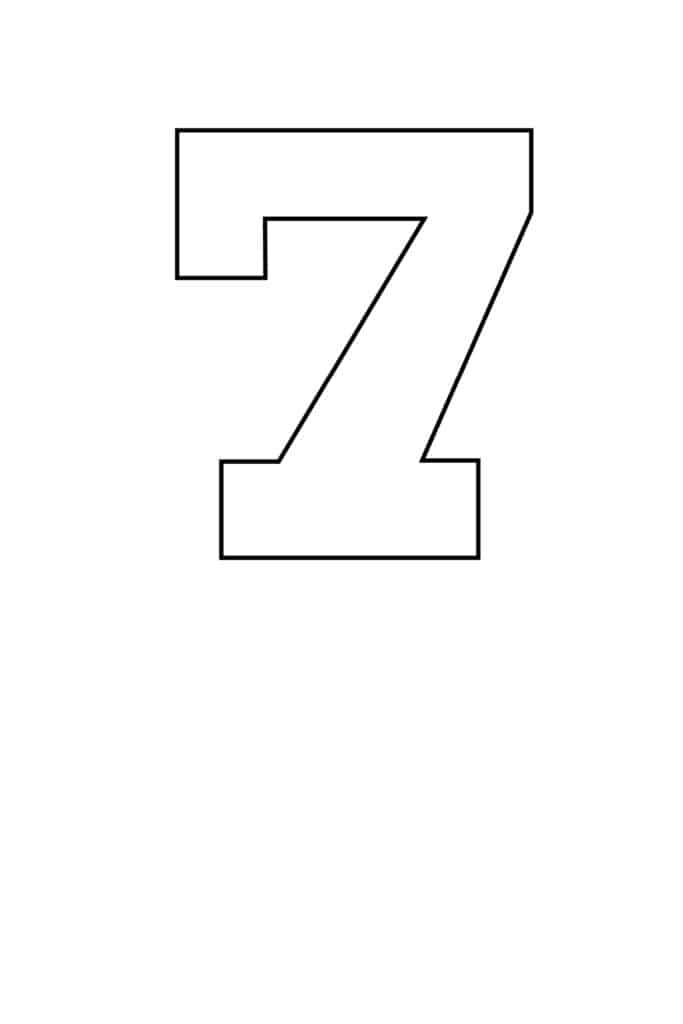 free printable number stencils number 7 stencil medium