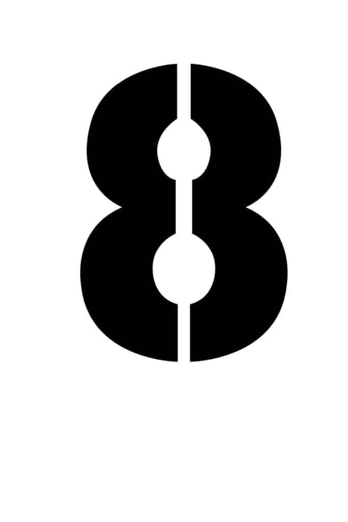 free printable number stencils number 8 stencil large black