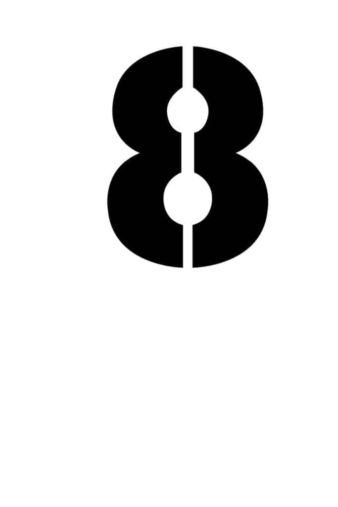 free printable number stencils number 8 stencil medium black