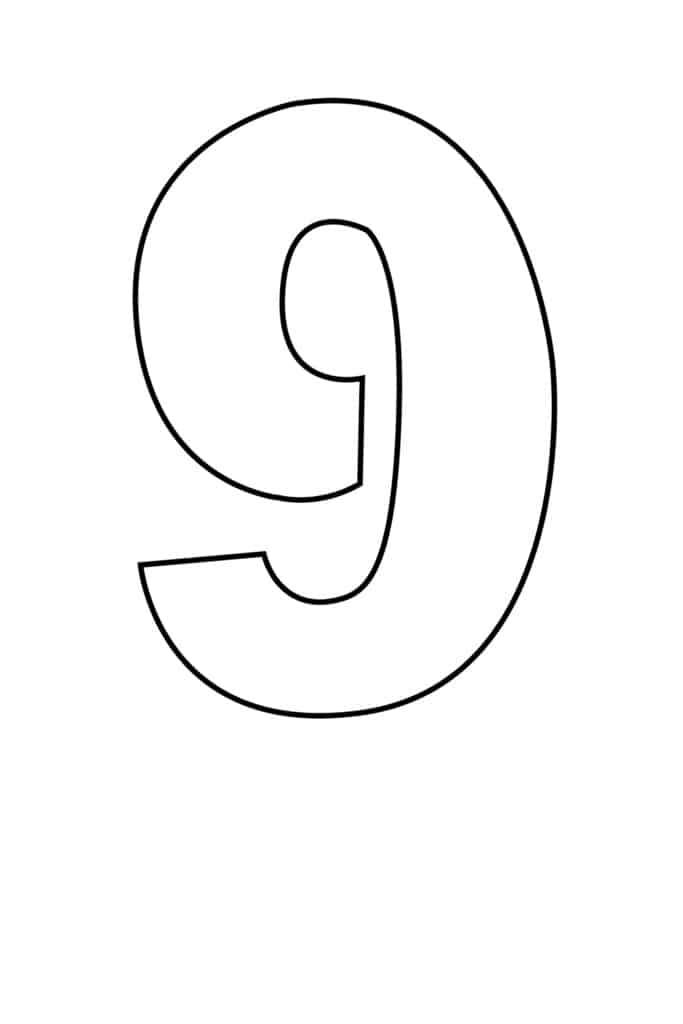 free printable number stencils number 9 stencil large