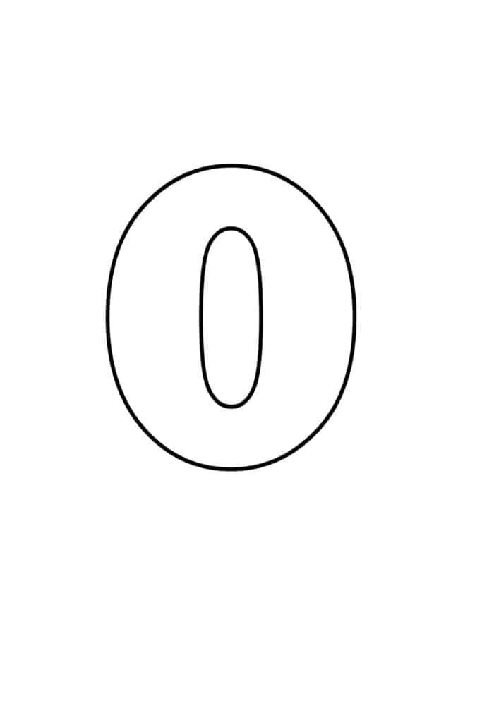 free printable numbers templates printable number 0