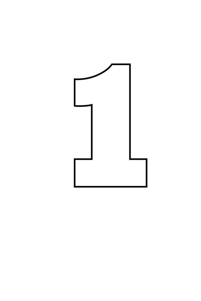 free printable numbers templates printable number 1