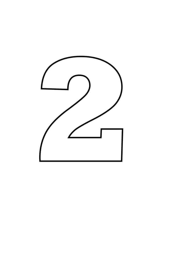 free printable numbers templates printable number 2