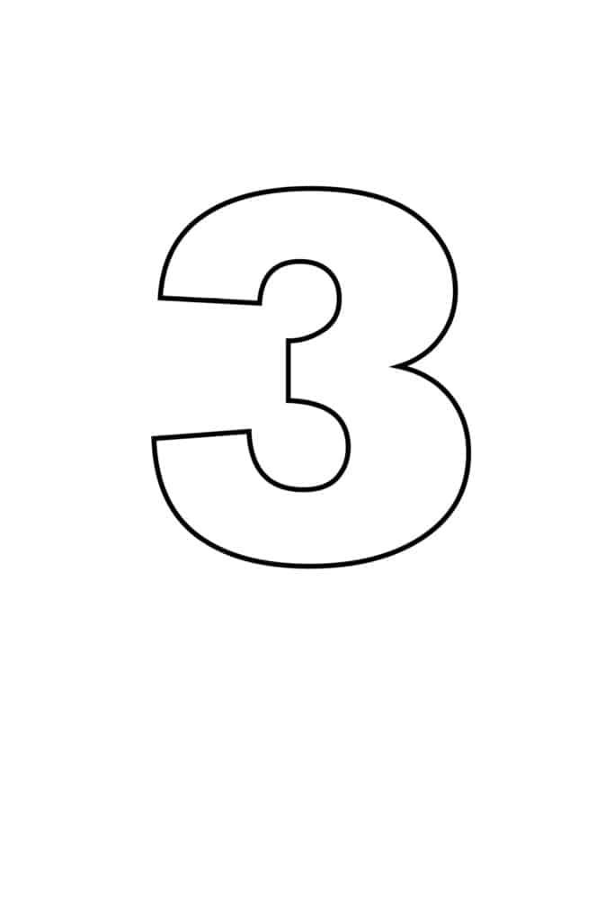 free printable numbers templates printable number 3